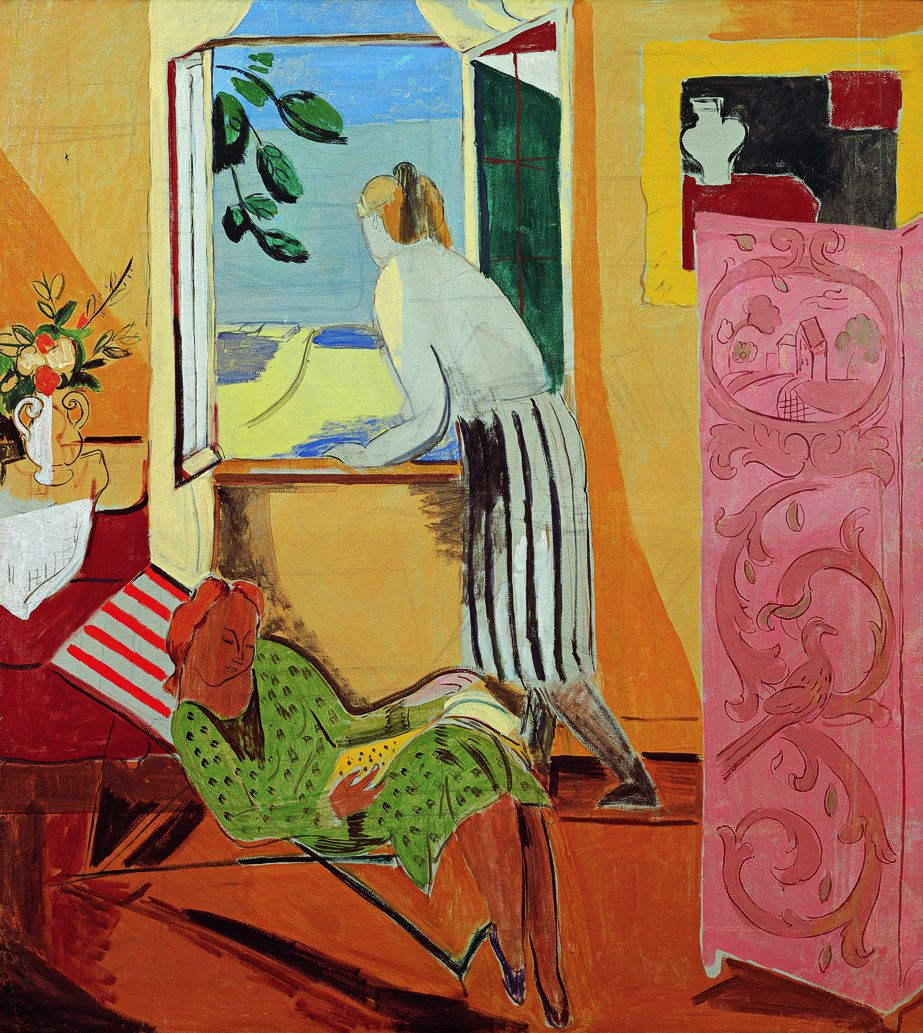 Hans Purrmann: Interior with two women, 1930 (1933/06).
